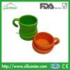 FDA silicone collapsible mug
