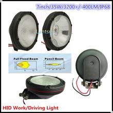 """HID058 35W 7"""" 4wd hid fog light waterproof one year warranty"""