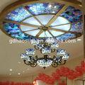 estilo tiffany vidrieras cúpula de techo con lámpara de araña