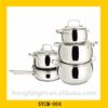 Good quality stainless steel cookware ceramic coating