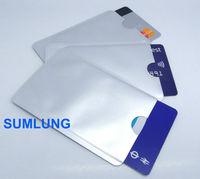 100% effective RFID Blocking Card Sleeve Credit Card Protector Holder Metal Shielding RFID Blocker Secure Sleeve BLANK no print