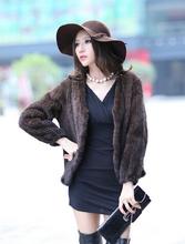 High quality lady's mink fur coat