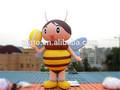 Replica promocionales inflables decoración del partido modelo/evento de dibujos animados/modelo abeja