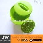 ZW FDA LFGB Silicone microwavable bowls with steamer