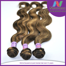 New Arrival factory wholesale high Quality weave with brown highlights
