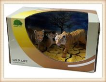 sıcak satış pvc hayat kaplan plastik orman hayvan oyuncaklar