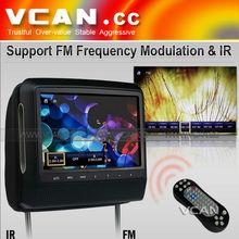 9 inch Headrest DVD touch screen USB SD Game MP5 player, IR FM 800 x 480 2Xspeaker,8/32 bits Game