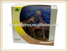 higt quility pvc zürafa oyuncak plastik orman hayvan oyuncaklar