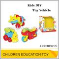 montar los niños vehículo de juguete de plástico de juguete del cerebro de montaje de automóviles oc0183213
