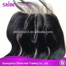 Brazilian human hair lace closure three part wig closure