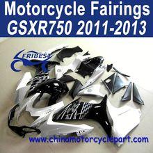 2011-2013 For SUZUKI GSXR 750 GSXR 600 ABS Motorcycle Fairing Kit Black White Oem FFKSU006