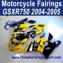 2004 2005 For SUZUKI GSXR 750 GSXR 600 Motorcycle Fairing Yellow And Silver Stripe FFKSU003