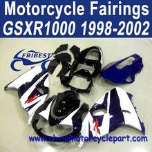 1998-2002 For SUZUKI TL1000R ABS Motorcycle Fairing Set Dark Blue Black White FFKSU014