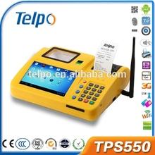 New production TPS550 wireless cdma finger printer pos terminal keyboard