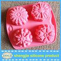 a europa venda quente flor shaped cake assadeira silicone cupcake de chocolate para decoração
