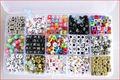 15 Arten mischkunststoff acryl alphabet buchstaben perlen für schmuck machen 6*6 und 4*7 perlen