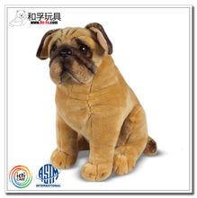 Lifelike stuffed animals plush toys pug dog