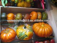 craft wholesale artificial pumpkin/plastic white pumpkin/decoration artificial foam pumpkin