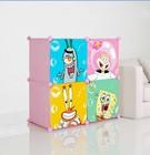 new cartoon design 4cube eco-friendly baby small wardrobe FH-AL0016-4T