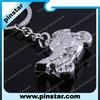 2014 New Custom Metal Hotsale Motorcycle Key Ring Chain Keychain Keyring Motor Silver Keychain New Fashion Cute Lover Gift