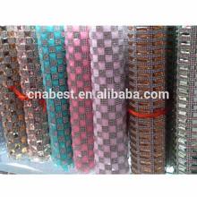 Hot fix ab color decorative bridal rhinestone trimming mesh