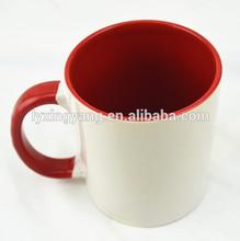 ceramic sublimation printing mugs,inner color outside white ceramic mug