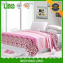 leopard print mink blanket/animal printed blankets/flannel blanket