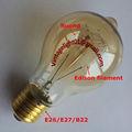 Vintage antiguo de bombillas a19 25w/40w/60w