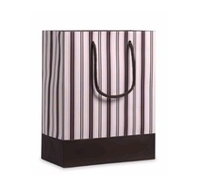 New design stripe decorative paper shopping bags /paper gift bags/paper bags for clothes