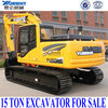 15ton rc hydraulic excavator with air-conditioner, Cummins engine, hammer, parts from Korean, ISO9001