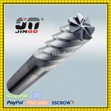 JINOO machinery end milling cutter tialn coated carbide circular blades