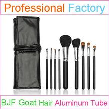 Fay black 9 makeup brushes set with traveling natural hair makeup brush