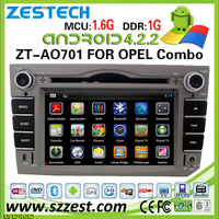 ZESTECH Capacitive Touch Screen DDR3 8GB Dual Core A9 WIFI 3G in dash 4.2.2 Android car dvd gps navigation for OPEL Combo
