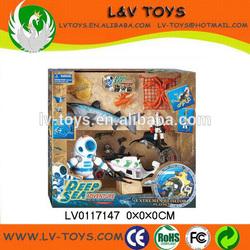 Educational plastic robot fish toys