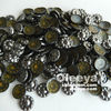 best-selling hematite Yiwu Garment Accessories Antique Metal Transfer Hot-fix Copper Dome for clothing
