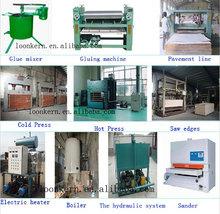 roller gluer spreader/hot press machine /plywood production line