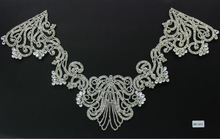 Factory price 2014 new strass crystal lace super closed with high quality rhinestones for garment