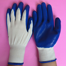 oil resistant knitted 13G nylon nitrile gloves