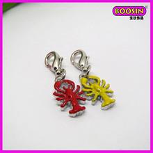 Zinc alloy lobster pendant enamel lobster pendant costume jewelry(19395)