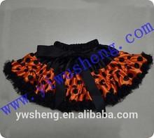 Halloween baby girl pettiskirt,orange with black polka dots pettiskirt