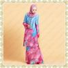 14953 Beautiful Floral Print Muslimah Chiffon Dress Baju