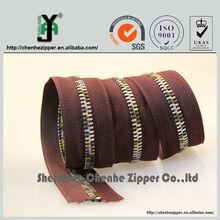 china source main product custom colored teeth zipper in rolls
