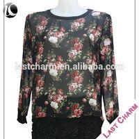 LAST CHARM fashion casual blouse batik