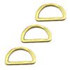 Fashion High Quality Metal Light Gold Polishing D Ring For Bag