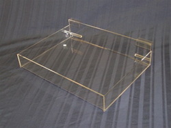 custom acrylic clear square hot new product print new design serving tray