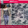 shaoxing winfar DTY spandex scuba knitting flock printing fabric for lady garment