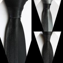 TOP Luxury Panel ties woven microfiber necktie half solid half small grids