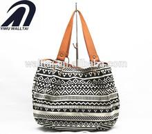 Custom printed sailcloth bag , the fashion canvas handbag