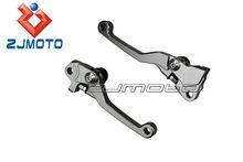 Made of Aluminum Alloy Dirt Bike Sport Bike 3 Finger Short CNC Adjustable Pivot Clutch Brake Lever for YZ426F/450F 2009-2014