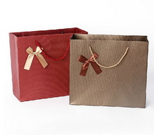 Newest Updated Printed Brown/Kraft Paper Shopping Bags With Special Design